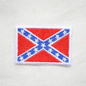 画像1: ワッペン レベルフラッグ/Rebel Flag(Sサイズ)