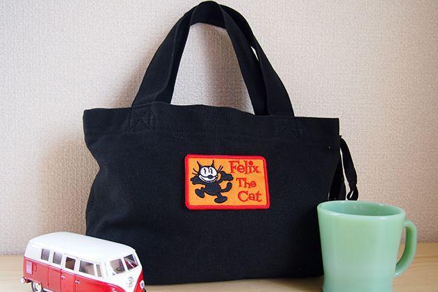 Wappen Felix The Cat Walk (Orange) / ワッペン フィリックス・ザ・キャット ウォーク (四角形 オレンジ)