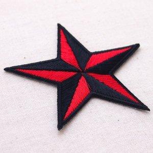 画像2: ワッペン 星/スター Star(レッド&ブラック)