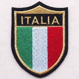 画像1: エンブレムワッペン イタリア国旗 Italia