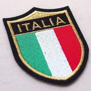 画像2: エンブレムワッペン イタリア国旗 Italia