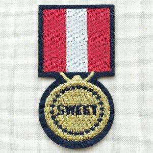 画像1: エンブレムワッペン Sweet スウィート(メダル)