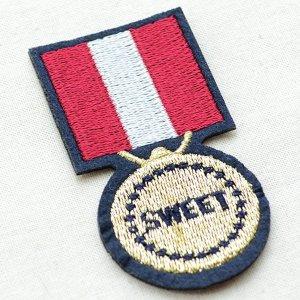 画像2: エンブレムワッペン Sweet スウィート(メダル)