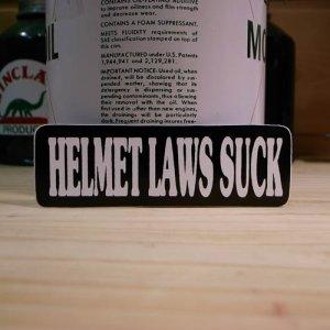 画像1: ステッカー HELMET LAWS SUCK