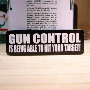 画像1: ステッカー GUN CONTROL
