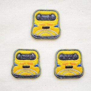 画像1: 鉄道/電車 トレインミニワッペン 923形ドクターイエロー(3枚組)