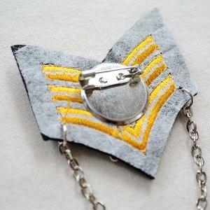 画像3: エンブレムブローチ Sailor セーラーライン(アンカー/チェーン付き)