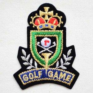画像1: エンブレムワッペン GOLF GAME ゴルフゲーム