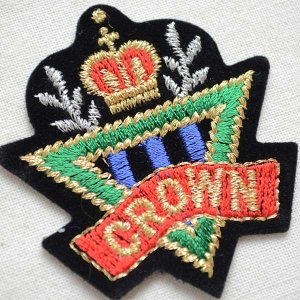 画像2: ミニエンブレムワッペン CROWN クラウン