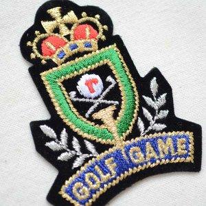 画像2: エンブレムワッペン GOLF GAME ゴルフゲーム