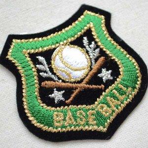 画像2: ミニエンブレムワッペン BASE BALL ベースボール