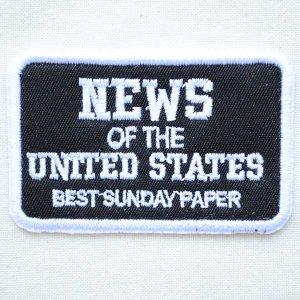 画像1: USAアドバタイジングワッペン NEWS OF THE UNITED STATES(ブラック&ホワイト)