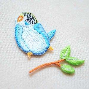 画像2: ナチュラルワッペン 小鳥/枝(2枚組)