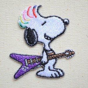 画像1: シールワッペン スヌーピー(ギター)