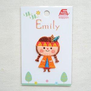 画像4: ワッペン リンリンエミリー インディアン女の子(オレンジ)