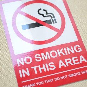 画像2: アメリカンステッカー 禁煙エリア No Smoking Area
