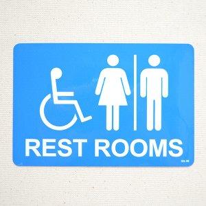 画像1: アメリカンステッカー レストルーム(トイレ) Rest Rooms