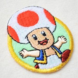 画像2: シールワッペン スーパーマリオ キノピオ