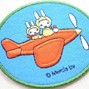 画像2: ワッペン ミッフィー(飛行機) ディックブルーナ