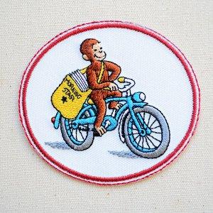 画像1: ワッペン おさるのジョージ バイク