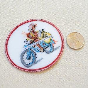 画像3: ワッペン おさるのジョージ バイク