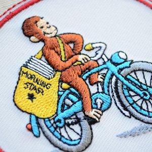 画像2: ワッペン おさるのジョージ バイク