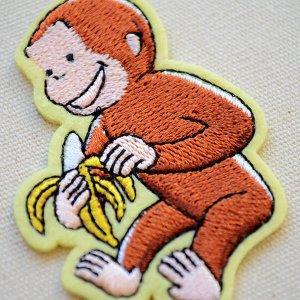 画像2: ワッペン おさるのジョージ バナナS