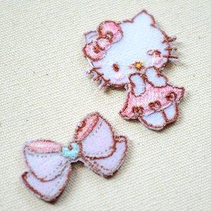 画像3: ワッペン キティ/リボン(2枚組)
