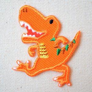 画像1: ワッペン へなちょこZOO(恐竜/ティラノサウルス)