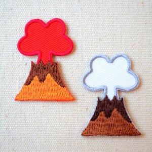 画像1: ワッペン へなちょこZOO(恐竜/火山)