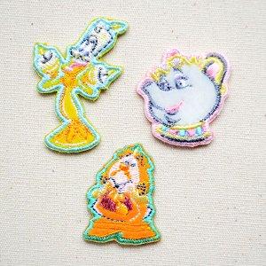 画像1: ワッペン ディズニー 美女と野獣(3枚組)