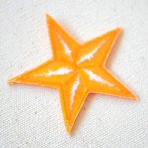 画像3: ワッペン 星/スター Star(オレンジ)