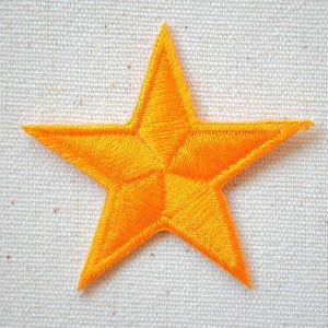 画像1: ワッペン 星/スター Star(オレンジ)