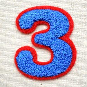 画像1: シニールワッペン 3(ブルー/レッド)