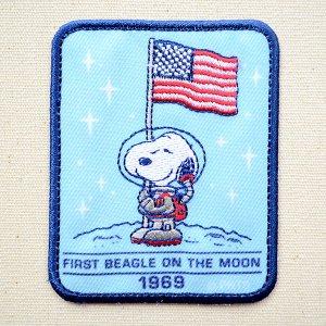 画像1: シールワッペン スヌーピー USA Misson to Mars