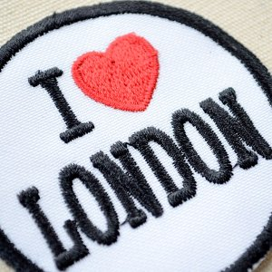 画像2: ワッペン I LOVE LONDON アイラブロンドン