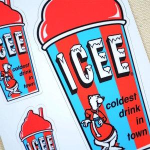 画像2: ステッカー/シール ICEE CUP(レッド)