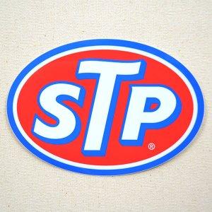画像1: ステッカー/シール STP(ブルーフレーム)