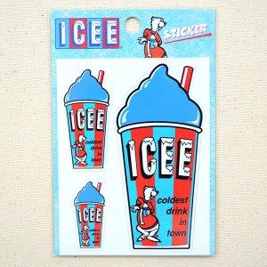 画像3: ステッカー/シール ICEE CUP(ブルー)