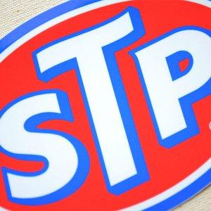 画像2: ステッカー/シール STP(ブルーフレーム)