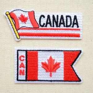 画像1: ワッペン カナダ国旗 フラッグ