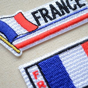 画像2: ワッペン フランス国旗 フラッグ