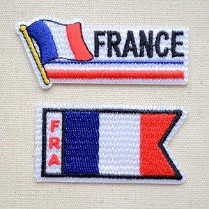 画像1: ワッペン フランス国旗 フラッグ