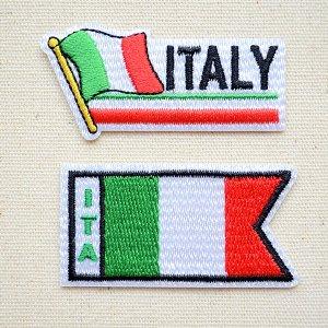 画像1: ワッペン イタリア国旗 フラッグ
