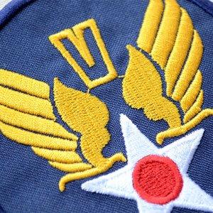 画像2: ミリタリーワッペン U.S.Air Force エアフォース V (ブルー/ラウンド)