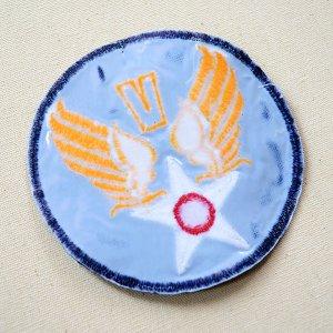 画像3: ミリタリーワッペン U.S.Air Force エアフォース V (ブルー/ラウンド)