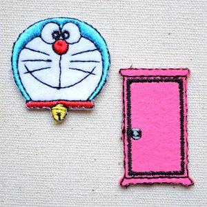 画像1: シールワッペン ドラえもん&どこでもドア