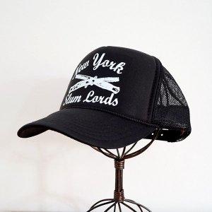 画像1: 帽子/メッシュキャップ トラックブランド New York(ブラック) メール便不可
