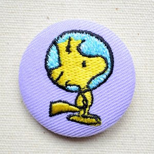 画像1: 刺繍ブローチ スヌーピー(ウッドストック アストロノーツ) PEANUTS/ピーナッツ