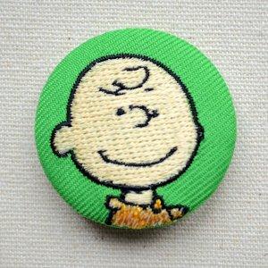 画像1: 刺繍ブローチ スヌーピー(チャーリーブラウン) PEANUTS/ピーナッツ